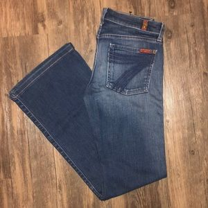 7 For All Mankind Dojo Jeans Size 27 VGUC